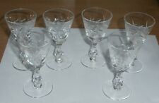 6  Lovely Vintage Crystal Glass Nice Design Cordial Wine Glasses 3.5 Inch