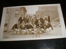 Old real photo postcard people and dog Clifton baths Margate c1920s