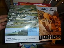 Dépliant Pelle Hydraulique Bagger Excavator Escavatori LIEBHERR