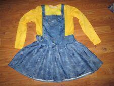 Girls MINION Halloween Costume sz L Lg 10 -12
