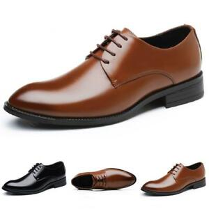 Mens Dress Formal Business Faux Leather Shoes Pointy Toe Oxfords Pointy Toe 48 D