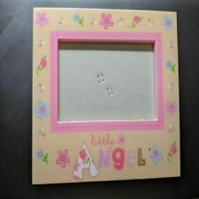 "Pink Picture Frame "" Little Angel"" 5 x 3.5 Picture New"