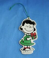 Vintage Peanuts Lucy Wood Wooden Christmas Ornament