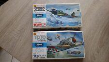 2x Maquette Hasegawa A1 A4 Tojo Nakajima Ki-44 Zero Fighter 1 72