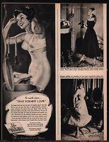 1949 LIFE FORMFIT BRA Pinup AD Girl New Hat Ladies Lingerie Vintage Underwear