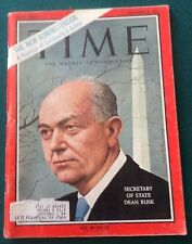 Time Magazine Dec 6, 1963  Dean Rusk Vol.82NO.23