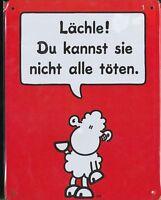 96074 / Sheepworld Blechschild Lächle