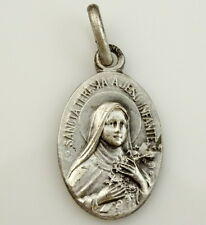 St Therese Medal Sainte Teresia Vierge du Sourire Vintage Small Charm