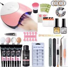 Poly Gel Nail Kit Set With LED/UV Nail Lamp & Nail Art Included