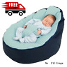 Soft Baby Chair Infant Bean Bag Bed Cover Pouf Feeding Baby Snuggle Belt Safety