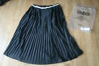 ASOS Perforated Pleated Midi Skirt w Sports Tipped Waistband Sz US 10/UK 14 NWT