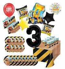 Mayflower Products Construction 3rd Birthday Party Supplies 8 Guest Big Dig D...
