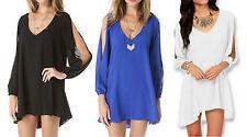 Asymmetrical Hem Chiffon Summer/Beach Dresses for Women