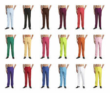 CONCITOR Men's Dress Pants Trousers Flat Front Slack Huge Selection Solid Colors