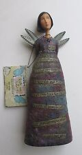 "w MY WISH Kelly Rae Roberts ANGEL 18063 9"" embrace what is calling you figurine"