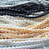 TOP QUALITY String Glass Faux PEARL BEADS 4mm 6mm 8mm 10mm Various Colour