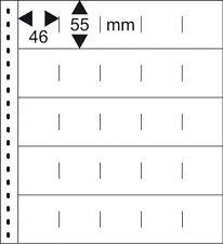 10 Lindner 055P Omnia Fiches de Stock Blanc 2x 25 Poches 46x55 MM