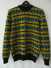 Agnes B Homme Paris Men's 100% Merino Wool Multi-colour Sweater, Sz 1 / S Small