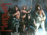 MANOWAR - ROSS THE BOSS SIGNED 80'S MAGAZINE 11 X 17 FOLD OUT HEAVY METAL LEGEND