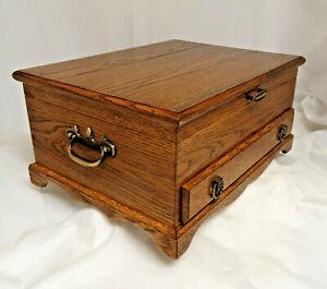 Wood Tarnish Resistant Silverware Flatware Storage Chest Box Wooden Drawer 54