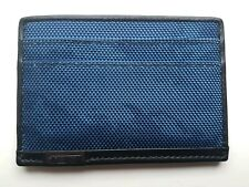 Tumi Slim ID Card Case Holder Wallet Blue Camo Camouflage - Free Delivery