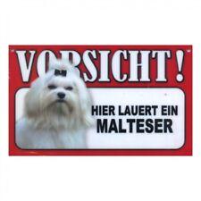 Warnschild Malteser Hundeschild 20cm x 12cm hund schild innen aussen tor tür