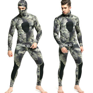 1.5mm Camo Diving Suit Freediving Spearfishing Wetsuit with Attached Hood