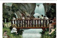 CPA-cartes Postale France-Fantaisie-Bébé-enfants à vélos 1905? VM22948