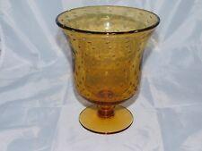 Vintage Italian? Amber  Art Glass Vase Controlled Bubble