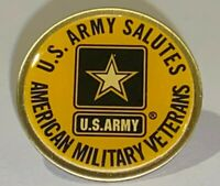 U.S. ARMY Lapel Pin - U.S. ARMY Salutes American Military Veterans Lapel Hat Pin