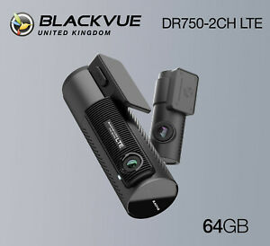 BlackVue Dash Cam DR750-2CH LTE Front and Rear Wi-Fi GPS (64GB) - NEW