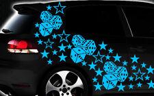 93-teiliges Sterne Würfel Cube Star Auto Aufkleber Tuning WANDTATTOO Blumen xxxy