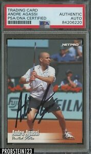 2003 NETPRO ANDRE AGASSI SIGNED PSA DNA CERTIFIED AUTOGRAPH TENNIS WIMBLEDON
