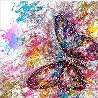 5D Mariposa Completa DIY Pintura Diamante Bordado de punto de Cruz Regalo d P9C8