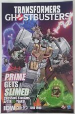 WonderCon 2019 Handout IDW Transformers Ghostbusters comic promo poster 35 years