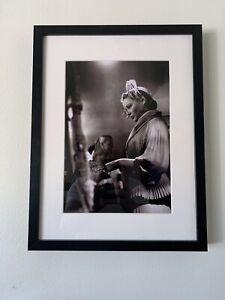Hollywood Regency - Gene Tierney - Studio 1940's B&W Photo - Matted & Framed