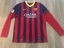 2c1d07c2e9 Nike Barcelona Home Long Sleeve Jersey 13 14 Size L