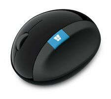 Microsoft Sculpt Ergonomic Mouse Bluetooth Wireless Blue Track Technology