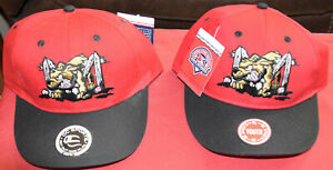 MiLB Batavia Muck Dogs minor league baseball youth sz S/M Cap Hat Red & Black NY