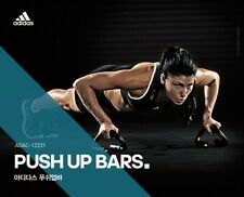 ADIDAS Push Up Stands Grips Bars Health Fitness Gym Workout Metal Home Trainig