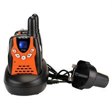2x Retevis RT602 Kids Walkie Talkies 8 Channel with Rechargeable Battery Orange