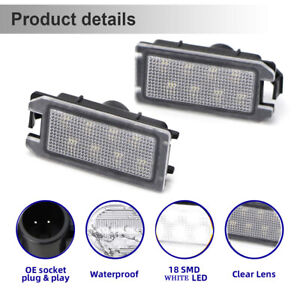 For 2014-2017 Compass 2014-2020 Jeep Grand Cherokee LED License Plate Lights 2PC