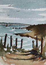 ACEO ATC original art miniature painting - Ocean Fun - by Bill Lupton