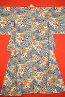 Vintage Japanese Silk Antique BORO KIMONO Kusakizome Dyde Textile/XL08/1040