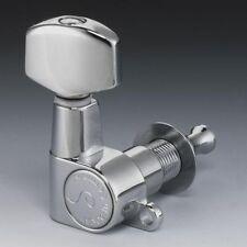 NEW - Schaller M6 6-In-Line Mini Tuning Keys, 14:1 Gear Ratio - CHROME