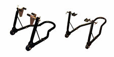Moto-GP Rear & Front Wheel Black Paddock Stand for Track Days from Bike-It