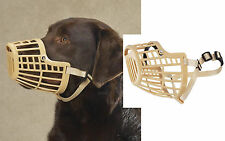 MEDIUM DOG Quick Fit/Release Adjustable Training Safety HEAVYDUTY BASKET MUZZLE