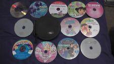 lot of 12 childrens dvd movies disc only kids disney girls princess dora barbie