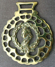 Scarce Royalty horse brass - Victoria in framed by Laurel wreath held by a hand