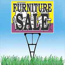 """18""""x24"""" FURNITURE SALE Outdoor Yard Sign & Stake Lawn Couch Table Chairs Sofa"""